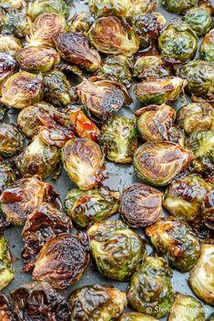 Crispy Asian Brussel Sprouts | Slender Kitchen