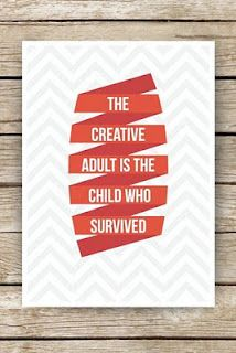 Creative adults - art quote