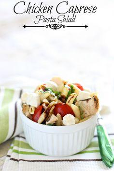 Chicken caprese pasta salad. Yep...its delicious!