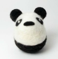 BRIKA.com | Felt Panda | $40 *From farm to felt!