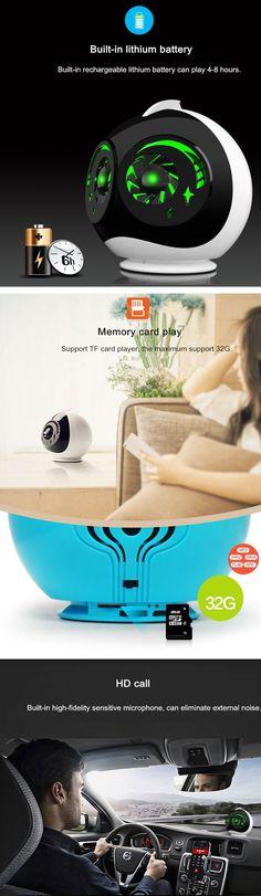 ONTOP Q616 Double Unit Wireless Bluetooth Colorful LED Light Alien Shape Mini Speaker Subwoofer