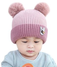 c71358ae92e Gbell Mom and Baby Winter Knitting Beanies 2Pcs  Set