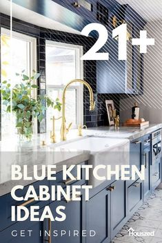Get inspired with our BLUE KITCHEN CABINET IDEAS. Our images will take your design ideas to the next level, giving you the inspiration you need...  #bluekitchencabinets #bluekitchencabinetspainted #bluekitchencabinetideas #navybluekitchencabinetideas #kitchencabinetcolorideasblue #bluekitchencabinetbacksplashideas Blue Kitchen Cupboards, Farmhouse Kitchen Cabinets, Kitchen Cabinets In Bathroom, Best Kitchen Designs, Modern Kitchen Design, Kitchen Themes, Kitchen Decor, Kitchen Ideas, Diy Kitchen Projects