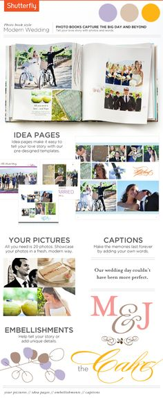 This modern wedding creation with creative photo books captures the big day and beyond | Shutterfly.com