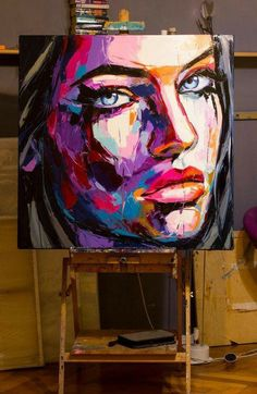 Blink back tears Oil painting by Lana Tikhonova - Modern Art Abstract Portrait Painting, Portrait Art, Oil Painting On Canvas, Abstract Art, Canvas Art, Pop Art Portraits, Modern Oil Painting, Modern Art Paintings, Photography Portraits
