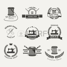 Illustration of Hand drawn typography poster with vintage sewing machine. For sewing studio logo,T-shirts design or posters. Logo Tailor, Tailor Shop, Sewing Tattoos, Sewing Studio, Typography Poster, Lettering Design, Logo Design Inspiration, Logos, Vintage Sewing