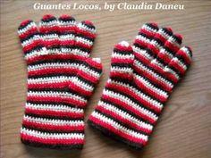 Crochet Mittones De Trenzas - YouTube