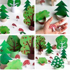 Obdobie jesene je predurčené k tomu, aby sa deti hrali v prírode ale aj na prírodu. Nechajte deti vyrobiť si vlastné hračky na tému les.