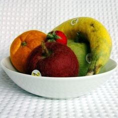 felt fruit - so realistic!