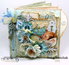 Baby 2 Bride Boy Mini Album from Ginny Nemchak - gorgeous! #graphic45