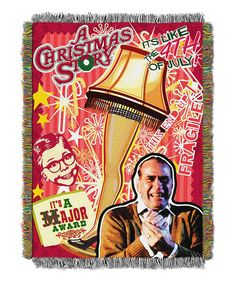 Loving this A Christmas Story Holiday Tapestry on #zulily! #zulilyfinds