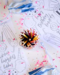 Shibori inspired third birthday