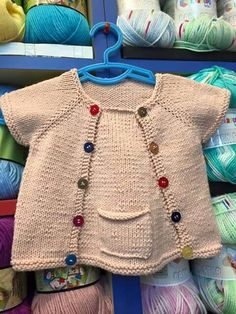 Different And Stylish Baby Vest Models – Knitting And We Knit Baby Dress, Knitted Baby Cardigan, Baby Outfits, Kids Outfits, Kids Knitting Patterns, Crochet Summer Dresses, Stylish Baby, Baby Sweaters, Handmade Clothes