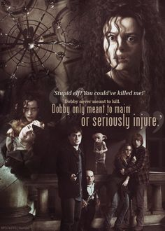 """""""Dobby never meant to kill. Dobby only meant to maim or seriously injure."""""""