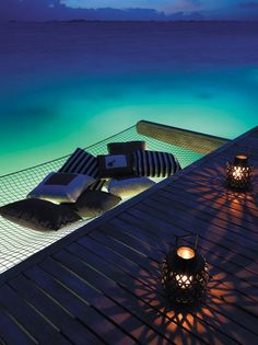 water, beach cottages, dreams, hammocks, the ocean, places, deck, heavens, bora bora