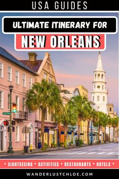 The Ultimate New Orleans Itinerary From the lively avenues of the French Quarter and the streetcars of the Garden District, to tasty Louisiana cuisine and the sound of jazz at every turn, this New Orleans itinerary is the perfect introduction to the city. Usa Travel Guide, Travel Usa, Travel Guides, Canada Travel, Travel Tips, Us Travel Destinations, Road Trip, Visit Usa, New Orleans Travel