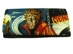 USA Handmade  Bifold Woman Wallet with Werewolf by HandmadeFashion