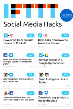 The Big List of #IFTTT Recipes: 34 Hacks for Hardcore Social Media Productivity