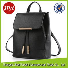 Hot Designer PU Girls Leather Backpack Bags Womens Leather School Backpack