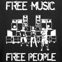 Darmowa muzyka - wolnych ludzi - Ekologiczna bluza damska Stanley