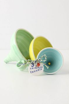 nesting ceramic funnels ... to stinkin' cute!  $28