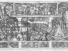 Diego Rivera and Frida Kahlo in Detroit Exhibition | Detroit Industry mural drawings | Detroit Institute of Arts
