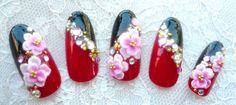 和ネイル Toe Nail Art, Toe Nails, Acrylic Nails, Japanese Nail Art, New Year's Nails, Bling Nails, Flower Nails, Beautiful Nail Art, Holiday Nails