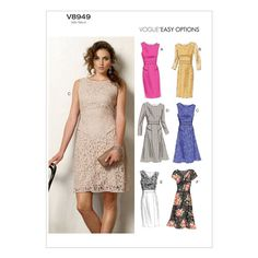 Mccall Pattern V8949 8-10-12-14-Vogue Pattern