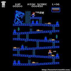 Donkey Kong mash-ups by BazNet - Aliens