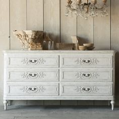Eloquence Bronte Weathered White Dresser, The Bella Cottage New Furniture, Vintage Furniture, Bedroom Furniture, Romantic Shabby Chic, Shabby Chic Cottage, Reproduction Furniture, Bedroom Images, Vintage Dressers, Furniture Collection