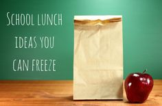 21 ideas for recipes you can bake to have a stash of lunch box items in the freezer for the kids school lunches.