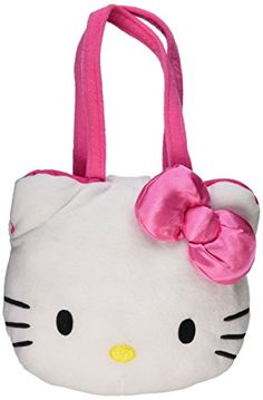 Hello Kitty 9 Plush Head Handbag Purse Embroidery * Learn more by visiting the image link.Note:It is affiliate link to Amazon.