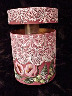 Stunning hand painted tole & tangle box. Found it here: http://www.flickr.com/photos/doodle_daze_designs/5632720313/in/pool-35241465@N00/