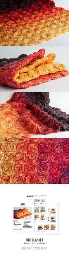 Fire Blanket Crochet Pattern| This ombre swirl design will warm up any room