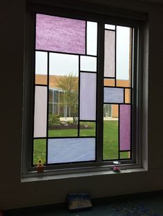 Afbeeldingsresultaat voor how to make stained glass windows with tissue paper