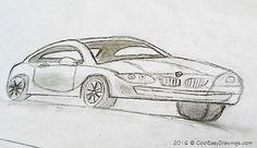 Simple Car Drawing in Pencil Simple Car Drawing, Cool Easy Drawings, Car Sketch, Car Drawings, First Car, Car Detailing, Pencil, Cool Stuff, Art