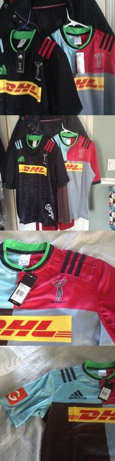 Rugby 21563: Lot Of 2 Harlequins Rugby Jerseys Home+Big Game Away,English Premier Rugby Large BUY IT NOW ONLY: $150.0