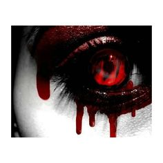 Bloody eyes   The Abyss   Pinterest ❤ liked on Polyvore featuring beauty products, skincare, eye care, eyes and makeup