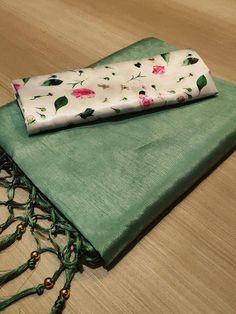 Zoya silk saree with jalar n moti/ green saree/ saree for women/ indian saree / wedding saree/ designer saree / sarees / saree blouse/ saree - - Cotton Saree Blouse Designs, Saree Blouse Patterns, Sari, Plain Saree, Saree Trends, Organza Saree, Green Saree, Elegant Saree, Soft Silk Sarees