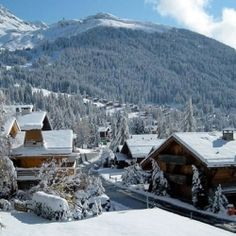 Verbier, Switzerland- is it sad I look at this and think of the nord village in oblivion?