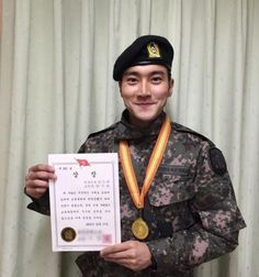 Super Junior Siwon stands out in military