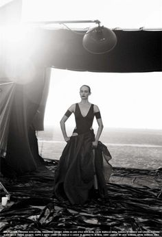 Photographed by Peter Lindberghfor Vogue Italia February 2013. Makeup by Pati Dubroff.