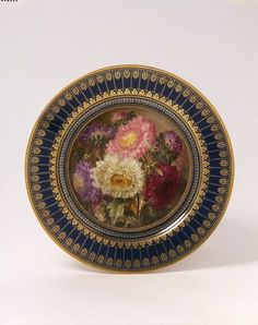 This plate was acquired by the Schools of Design as an example for the students. It demonstrates the superb quality of realistic painting achieved by the Sèvres factory. The wealth of colour, the length of time needed to paint this elaborate decoration, the gilding and the fact that it was made by the Sèvres factory, which in the 1840s was again under royal patronage, would all have combined to make this an extremely expensive plate.