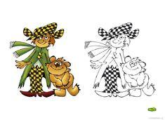 Omalovánky postavy z večerníčku | i-creative.cz - Inspirace, návody a nápady pro rodiče, učitele a pro všechny, kteří rádi tvoří. Tigger, Disney Characters, Fictional Characters, Cartoon, Creative, Fantasy Characters, Cartoons, Comics And Cartoons