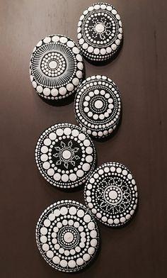 made to order mandala stones by DotsOfPaintCreations on Etsy