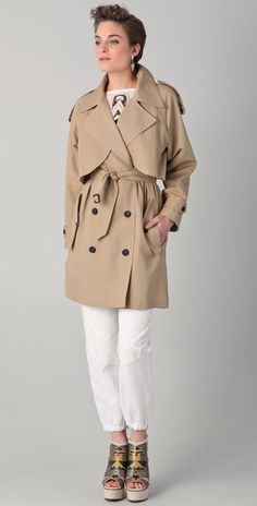 Great Trench Coat. Love the length. Biddy Craft