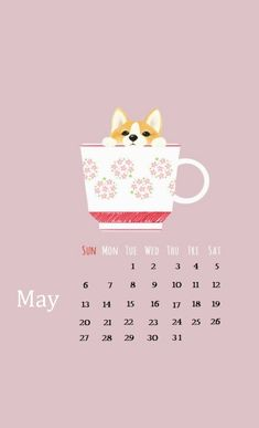 May 2018 iPhone Calendar For Background