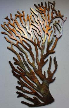 Coral Branch Large Fan Metal Wall Art Decor in Home & Garden, Home Décor, Wall Sculptures | eBay