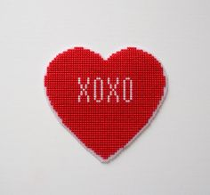 Valentine's Day Cross Stitch Pattern, 6 in 1, Cute Funny Valentine's Day Card, Gift Counted Chart, PDF Format, Instant Download