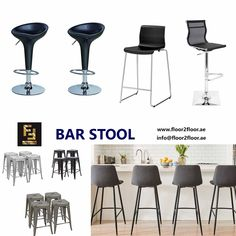 Create a unique visual appeal to your space with bar stools. Floor 2 Floor Office Furniture gives you ergonomically designed bar stools in a wide range of designs. Kitchen Bar Counter, Kitchen Stools, Kitchen Decor, Adjustable Bar Stools, Swivel Bar Stools, Bar Chairs, Office Chairs Online, Designer Bar Stools, High Stool